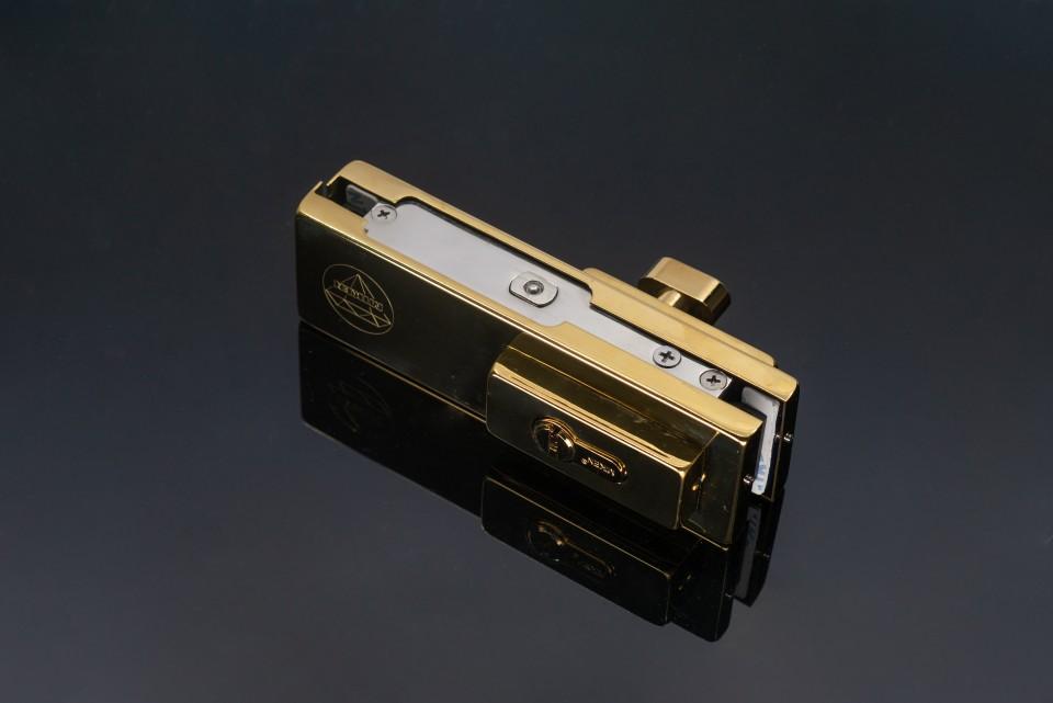 Mẫu khóa cửa kính cường lực Miken