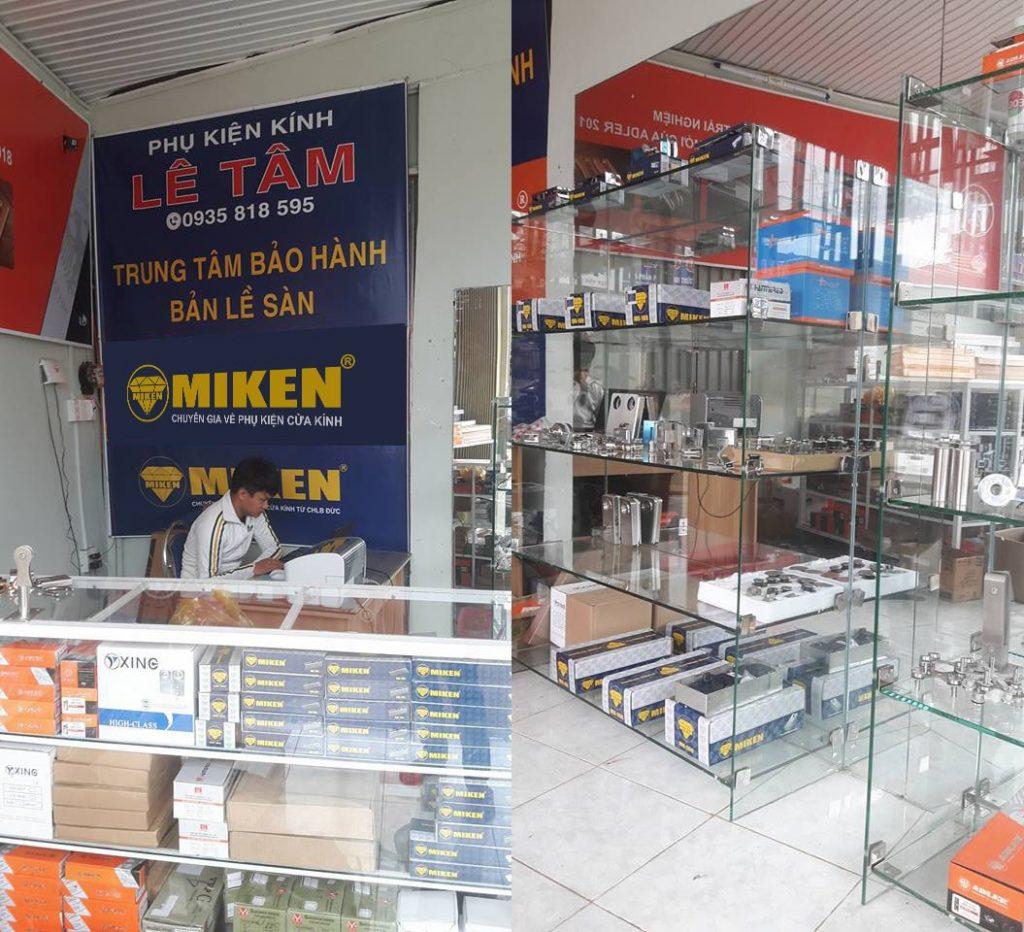 Đại lý kinh doanh phụ kiện cửa kính Miken